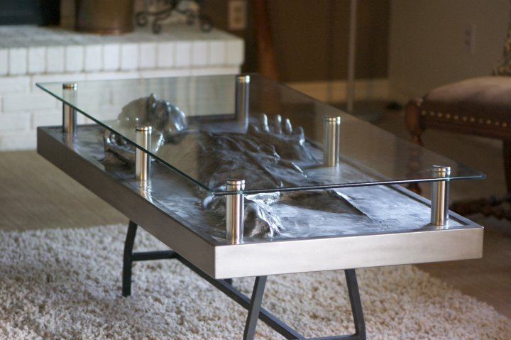 han in carbonite coffee table - custom commission